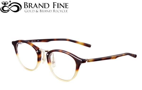 新品 未使用 フォーナインズ 999.9 眼鏡フレーム M-62 ブラウンデミ×ベージュ ミックスフレーム ツートン×ゴールド 6331 純正ケース付 ☆正規品新品未使用品 実物