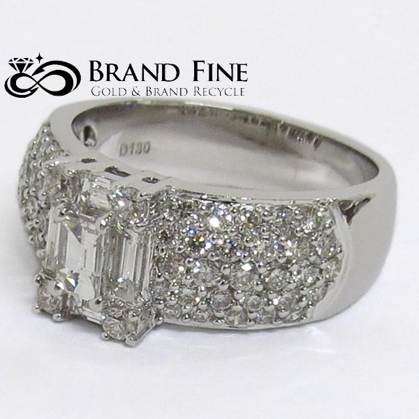 美品 売り込み K18WG ダイヤモンド 1.30ct 税込 12号 デザインリング 磨き仕上げ済