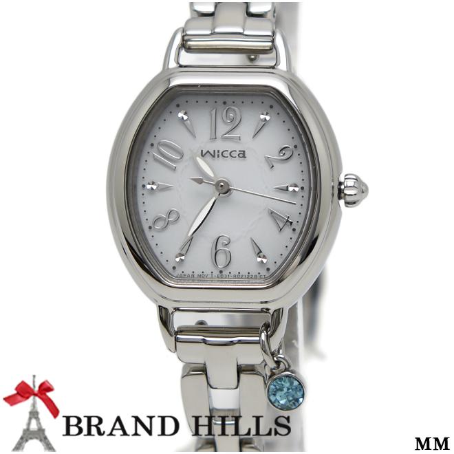 シチズン ウィッカ ブレスライン レディース ソーラーテック 腕時計 KP2-515-11 CITIZEN 未使用品【中古】