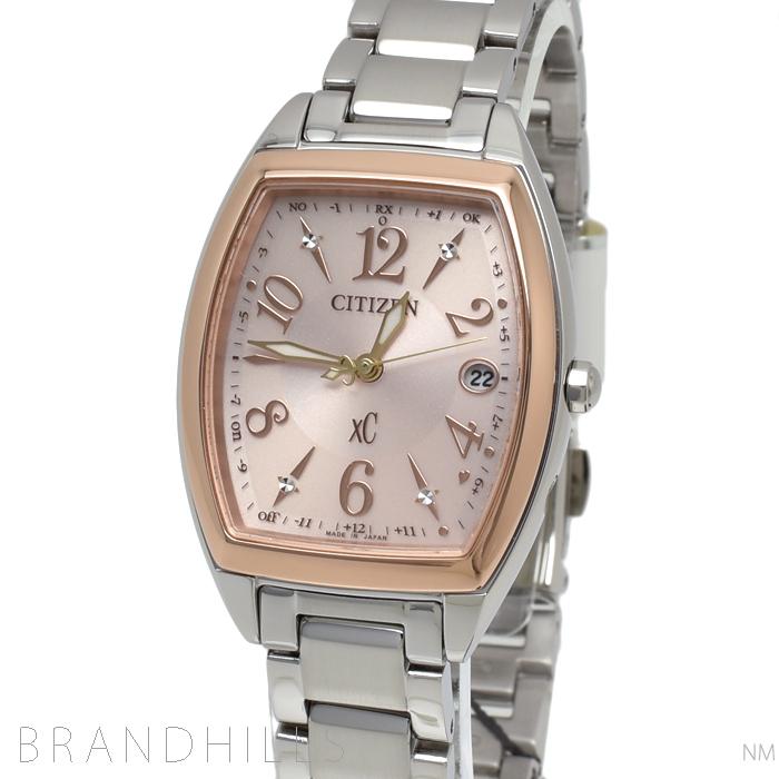 シチズン クロスシーXC 腕時計 レディース エコドライブ電波 ハッピーフライト ワールドタイム ES9390-57W CITIZEN 未使用品 【中古】