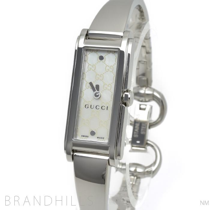 グッチ 腕時計 レディース クォーツ 109 Gライン SS シェル文字盤 YA109531 GUCCI 極美品 【中古】