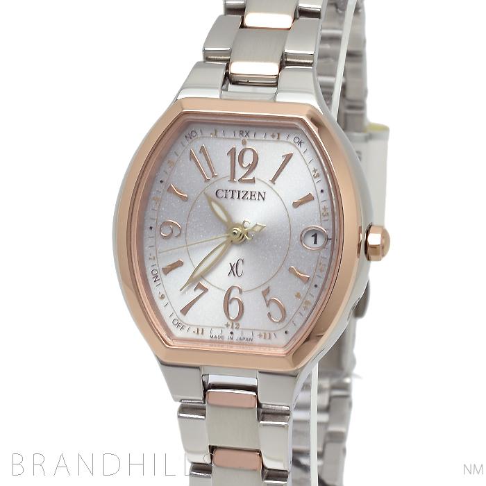 シチズン クロスシーXC 腕時計 レディース エコドライブ電波 ハッピーフライト ワールドタイム ES9364-57A CITIZEN 未使用品 【中古】