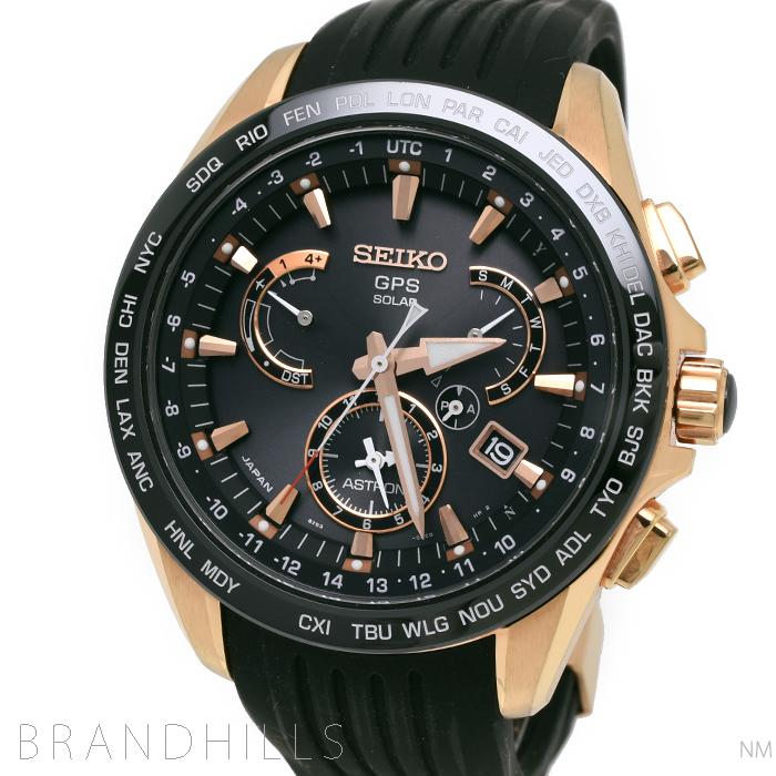 セイコー アストロン 腕時計 メンズ GPSソーラーウオッチ 8Xシリーズ ワールドタイム 衛星電波時計 SBXB055 SEIKO ASTRON 美品 【中古】