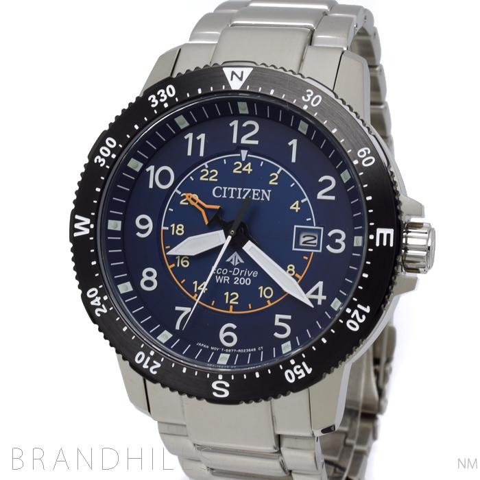 シチズン プロマスター LAND 腕時計 メンズ エコドライブ SS ブルー文字盤 BJ7094-59L CITIZEN 未使用品 【中古】