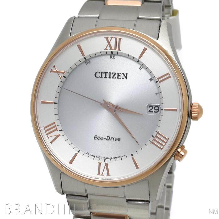 シチズン コレクション 腕時計 メンズ エコドライブ電波 SS シルバー文字盤 AS1062-59A CITIZEN 未使用品 【中古】
