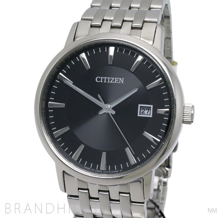 シチズン コレクション 腕時計 メンズ エコドライブ SS ブラック文字盤 BM6770-51G CITIZEN 未使用品 【中古】