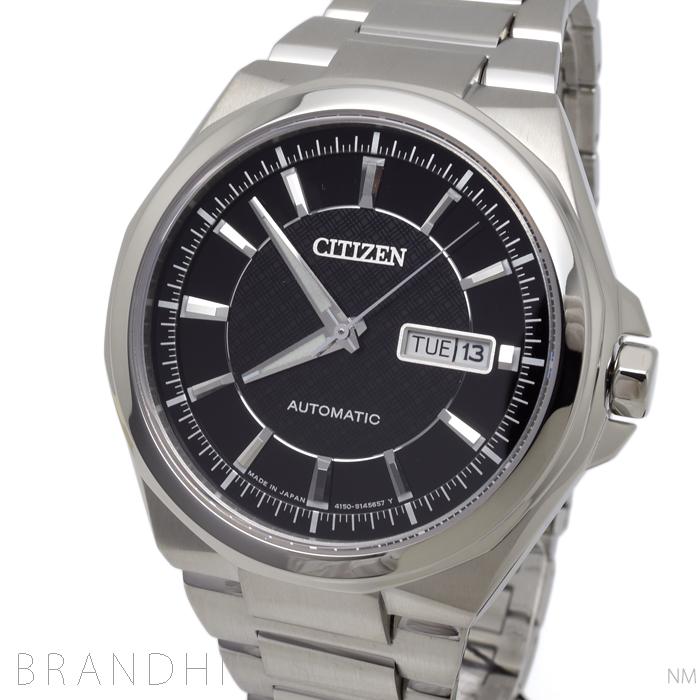 シチズン コレクション 腕時計 メンズ 自動巻き SS ブラック文字盤 NP4080-50E CITIZEN 未使用品 【中古】