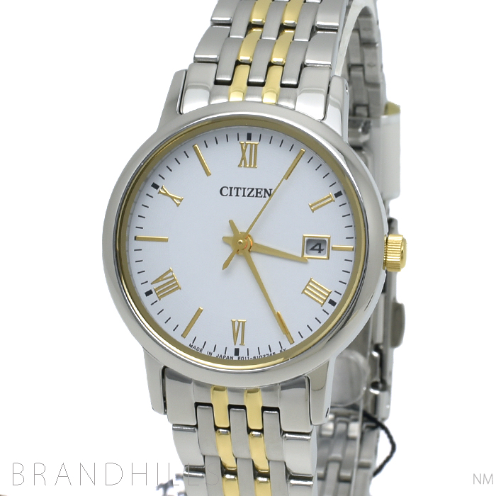 シチズン 腕時計 レディース コレクション エコドライブ SS ホワイト文字盤 EW1584-59C CITIZEN 未使用品 【中古】