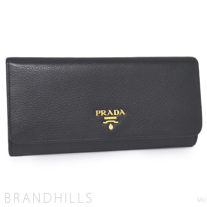プラダ 長財布 レディース ヴィッテロ フェニックス NERO ブラック 1M1132 PRADA 美品 【中古】