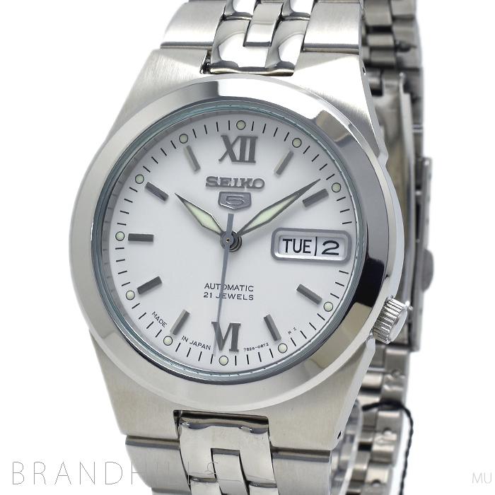 セイコー 腕時計 メンズ セイコー5 自動巻き SS ホワイト文字盤 Ref.SNKE371 SEIKO 新品