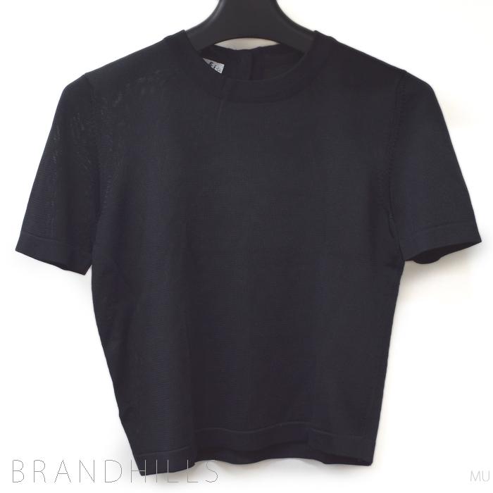 エルメス トップス レディース ビスコース ブラック 半袖 Tシャツ HERMES 美品 【中古】