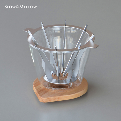在庫あり 淹れ手がより自由に抽出を愉しめるコーヒードリッパー スロー メロー バートドリッパー 1~4杯用 流行のアイテム SNDZK1808-01