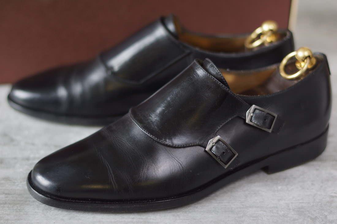 Louis Vuitton business shoes Vuitton double Monk strap