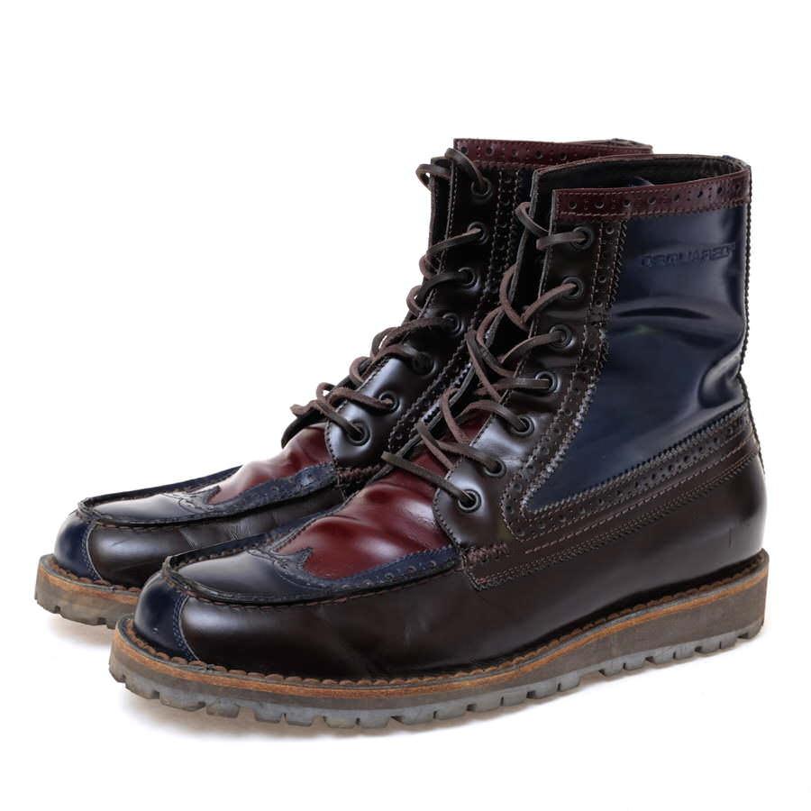DSQUARED2 ブーツ ディースクエアード メダリオン セミブローグ モカシン ウイングチップ【中古】