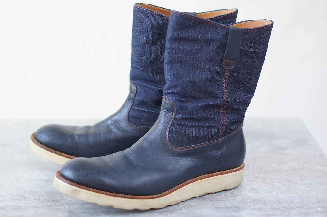 TENKUMARU ブーツ 天空丸 ペコスブーツ 伊東製靴店 デニム【中古】