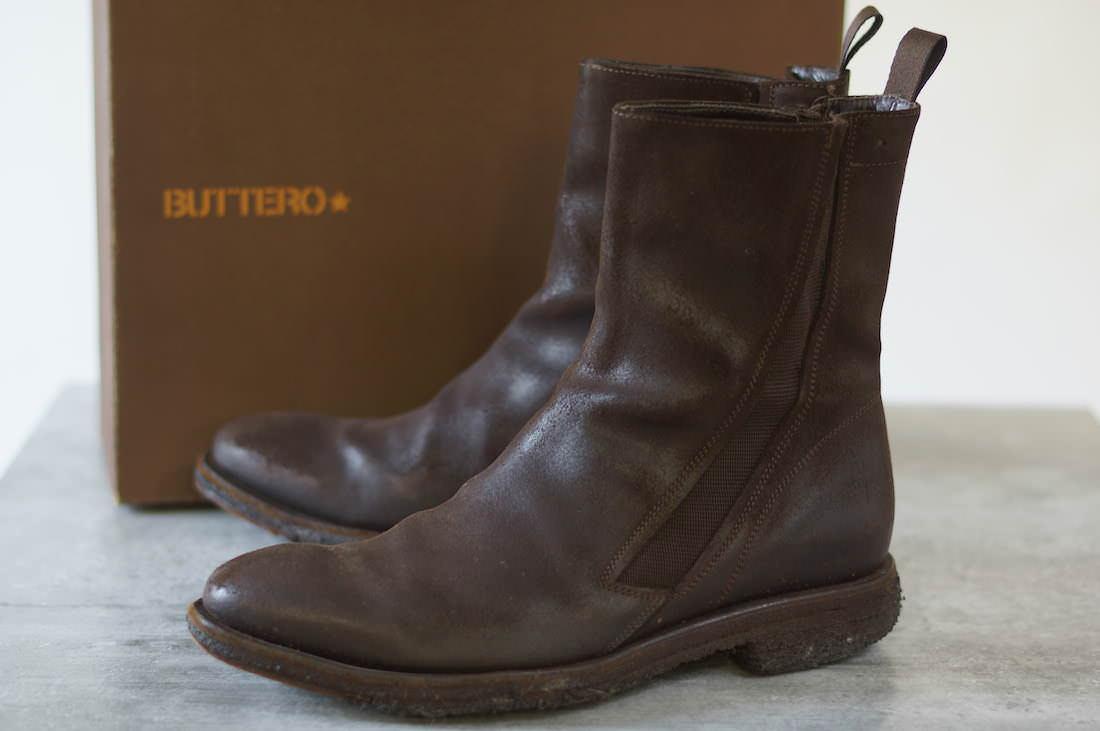 BUTTERO ブーツ ブッテロ B1652 サイドゴアブーツ  【中古】