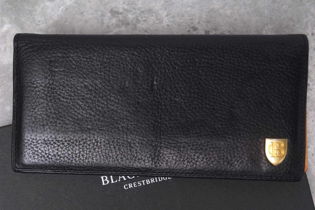 BLACK LABEL CRESTBRIDGE 長財布 ブラックレーベル・クレストブリッジ アリゾナレザー ロングウォレット【中古】