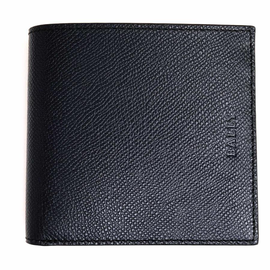 BALLY 財布 バリー MIOLLEN.O/487 グレイン型押し 二つ折り 小銭入れなし 札入れ 【中古】