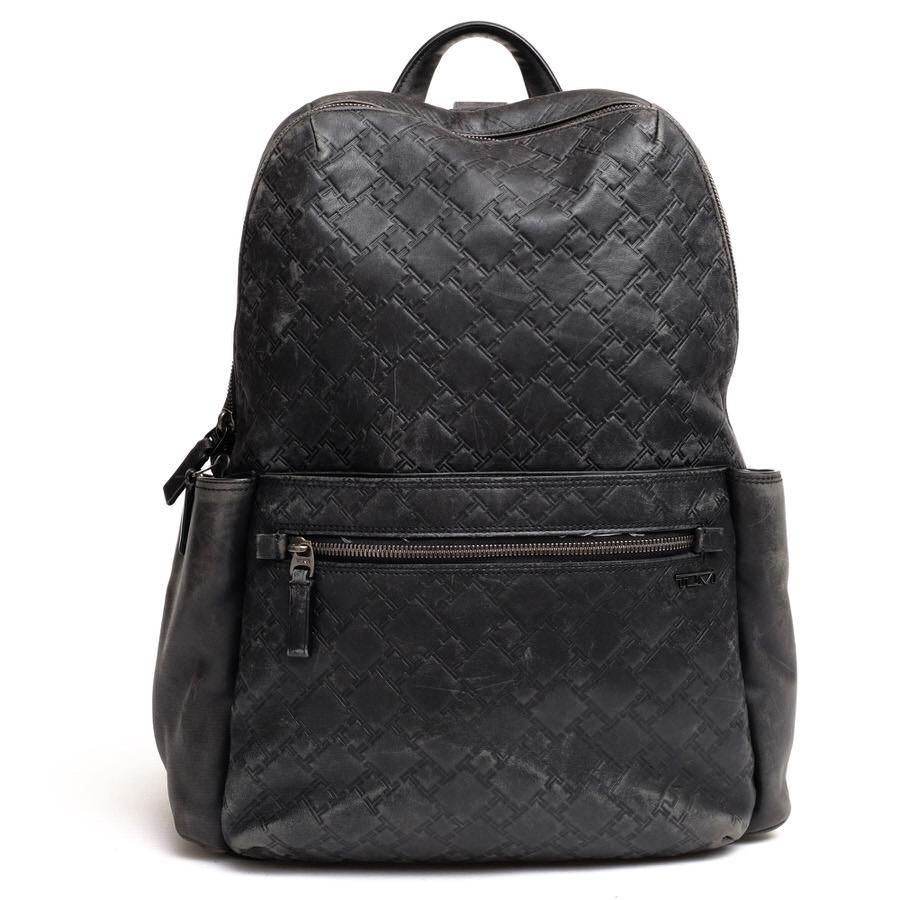 TUMI リュック トゥミ 31180DT TICON シグネチャー レザー Leather Backpack【中古】
