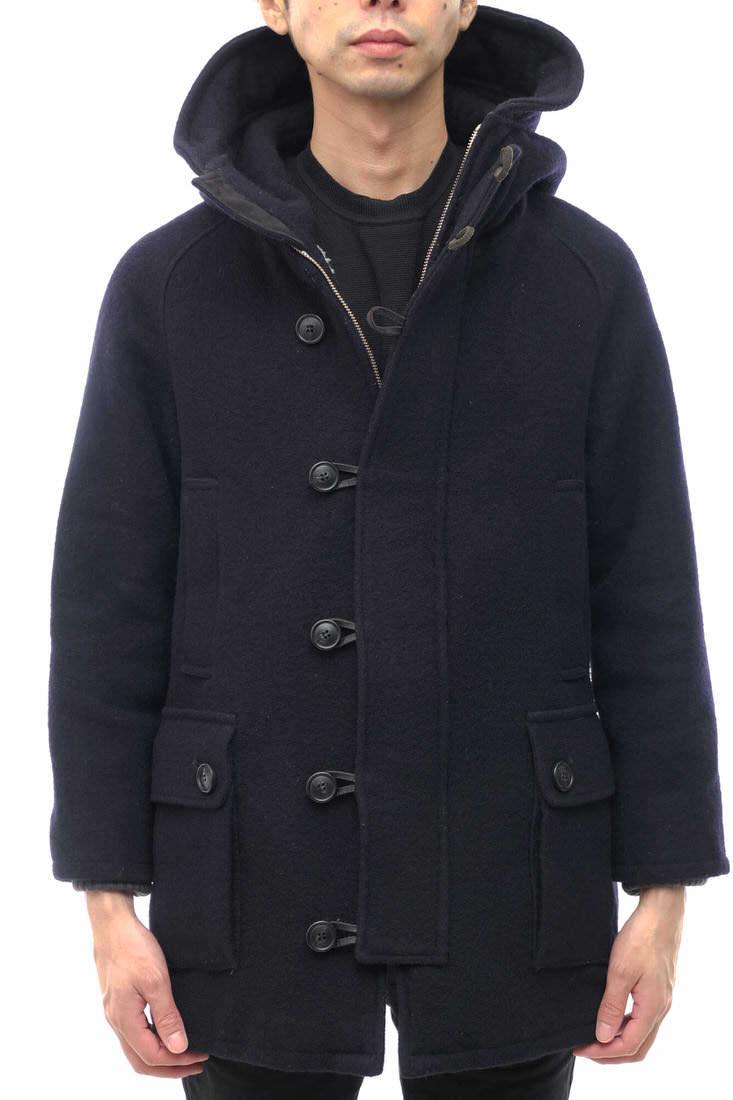 EEL ダッフルコート イール Aurora Man Coat 3.0 オーロラマンコート メルトン リブ フード付き ボア 【中古】