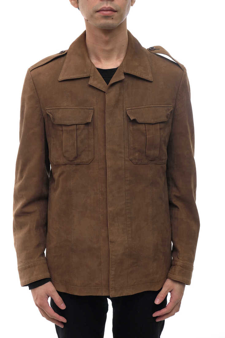 Paul Smith フィールドジャケット ポールスミス PC-MN-63706 COLLECTION コレクション 羊革 シープスエード サファリジャケット 【中古】
