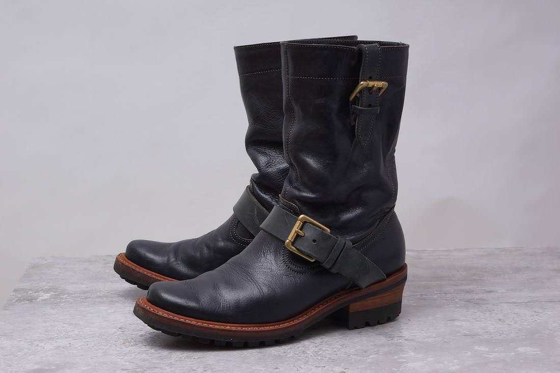 chausser ブーツ ショセ plus by エンジニアブーツ ロングブーツ Horween社製ホースハイド 馬革【中古】