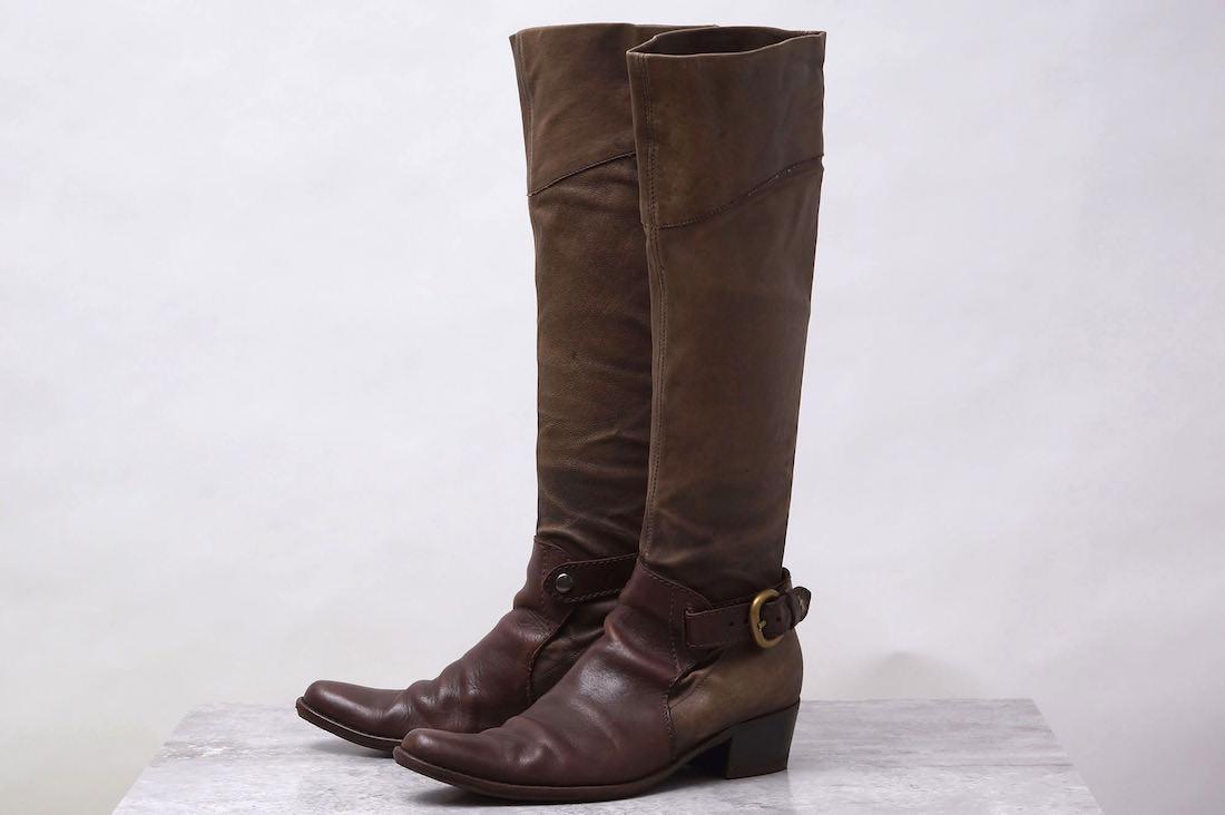 HENRY BEGUELIN ブーツ エンリーベグリン ロングブーツ オミノ刺繍【中古】