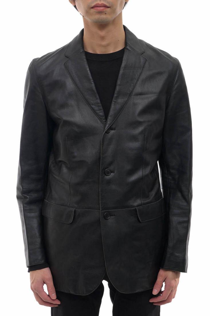 UNITED ARROWS テーラードジャケット ユナイテッドアローズ 1122-199-1828 ラムレザー 羊革 シングルブレスト 【中古】