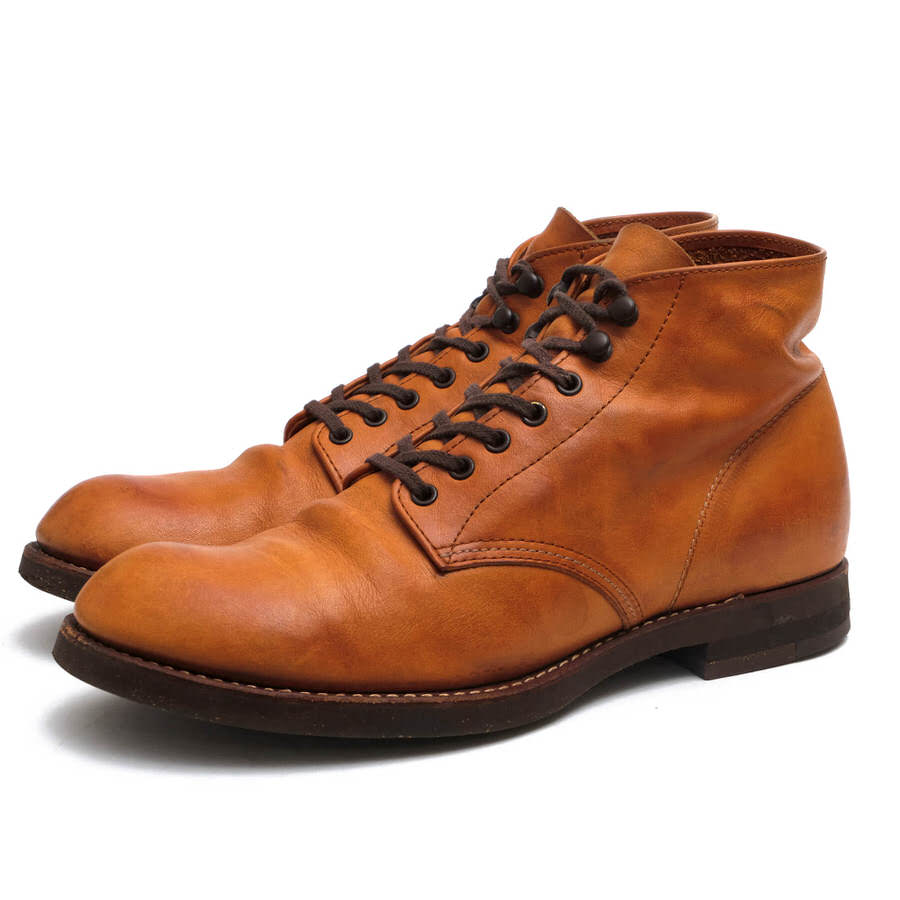 MR.OLIVE レースアップブーツ ミスターオリーブ ME-521 WATERPROOF SHIRINK LEATHER 7HOLE HUNTING BOOTS 牛革 ハンティングブーツ プレーントゥ 【中古】