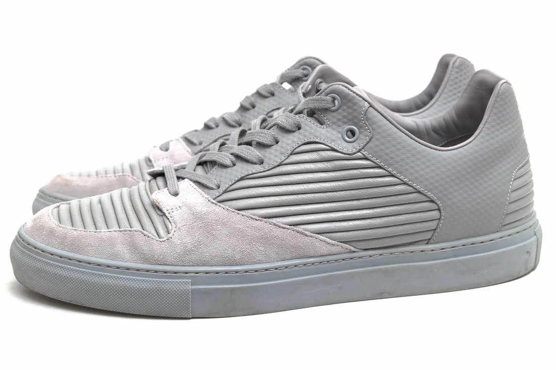 BALENCIAGA ローカットスニーカー バレンシアガ 312720 Monochromes Low Top Pleated Sneakers  【中古】
