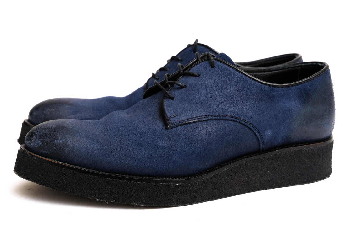 PADRONE カジュアルシューズ パドローネ DERBY SHOES RUBBER SOLE MIDWEST別注 オイルドスエード  【中古】