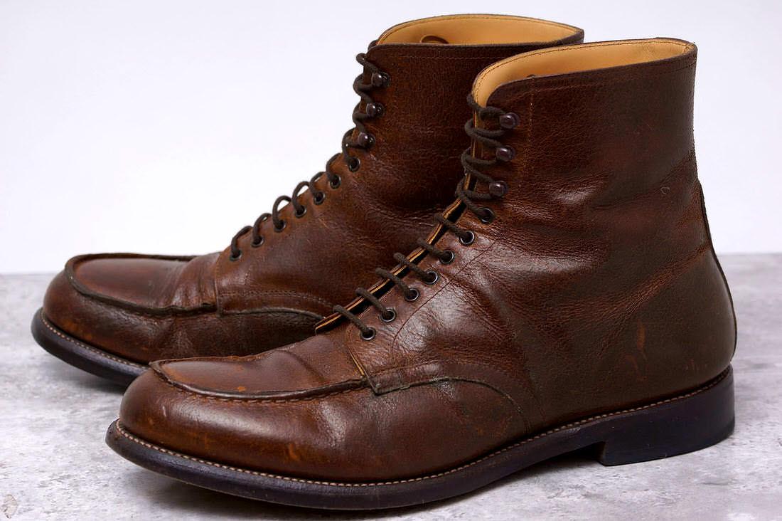 HIROSHI TSUBOUCHI ヒロシツボウチ/boots/shoe/靴 ブーツ HTM-0818 ホースレザー レースアップブーツ 【中古】【HIROSHI TSUBOUCHI】