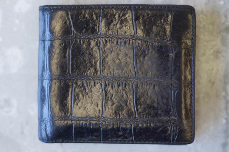 J&M DAVIDSON J&Mデヴィッドソン/サイフ 財布 クロコ型押し 二つ折り 【中古】【J&M DAVIDSON】