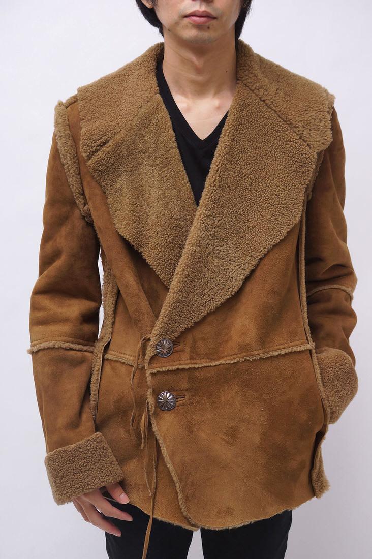 Ron Herman ロンハーマン/JACKET/coat/コート コート R.H. VINTAGE ムートン シープレザー コンチョ スペイン製 【中古】【Ron Herman】