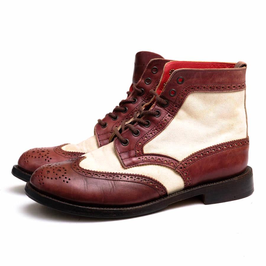 Tricker's トリッカーズ/boots/shoe/靴 ブーツ YAMANE DELUXE別注モデル カントリーブーツ EVISU 【中古】【Tricker's】