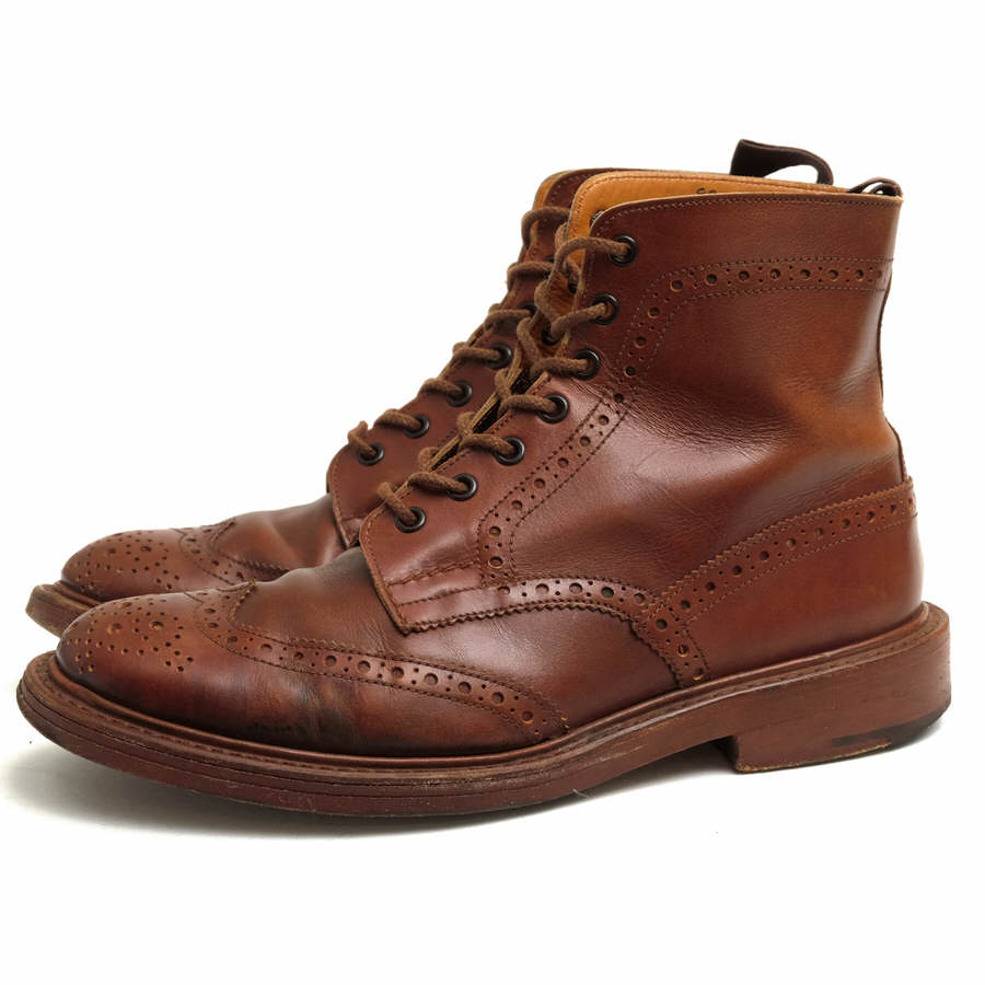 Tricker's トリッカーズ/boots/shoe/靴 ブーツ カントリーブーツ M2508 Malton 【中古】【Tricker's】