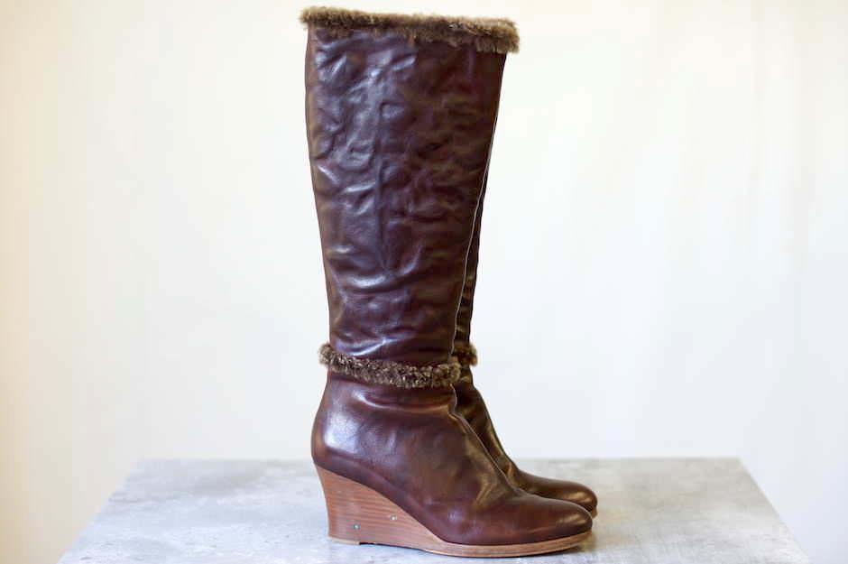Henry Cuir アンリークイール/boots/shoe/靴 ブーツ ロングブーツ サイドジップ 【中古】【Henry Cuir】
