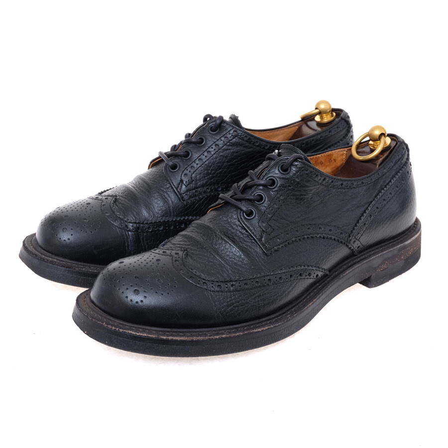 MR.OLIVE ミスターオリーブ/shoe/靴 ビジネスシューズ ME599 WATER PROOF NEW SHIRINK LEATHER /WINGTIP OXFORD SHOES ウイングチップ 【中古】【MR.OLIVE】