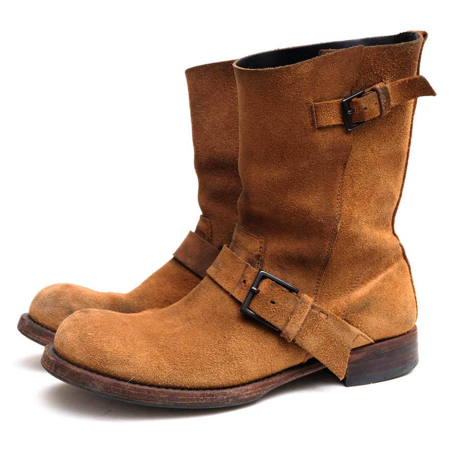 wjk ダブルジェイケイ/エンジニアブーツ/boots/shoe/靴 エンジニアブーツ 801 lc96 engineer leather-sole-full tannin cow reverse 【中古】【wjk】