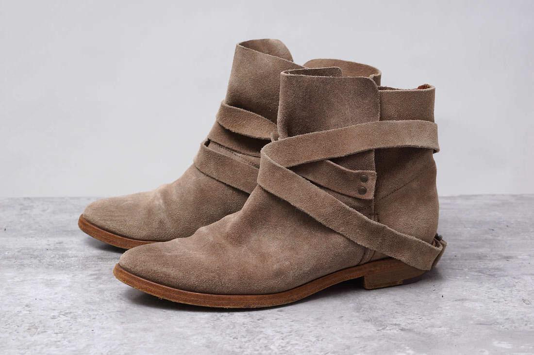 BUTTERO ブッテロ/boots/shoe/靴 ブーツ ベルト2重巻き ショートブーツ B4340 【中古】【BUTTERO】