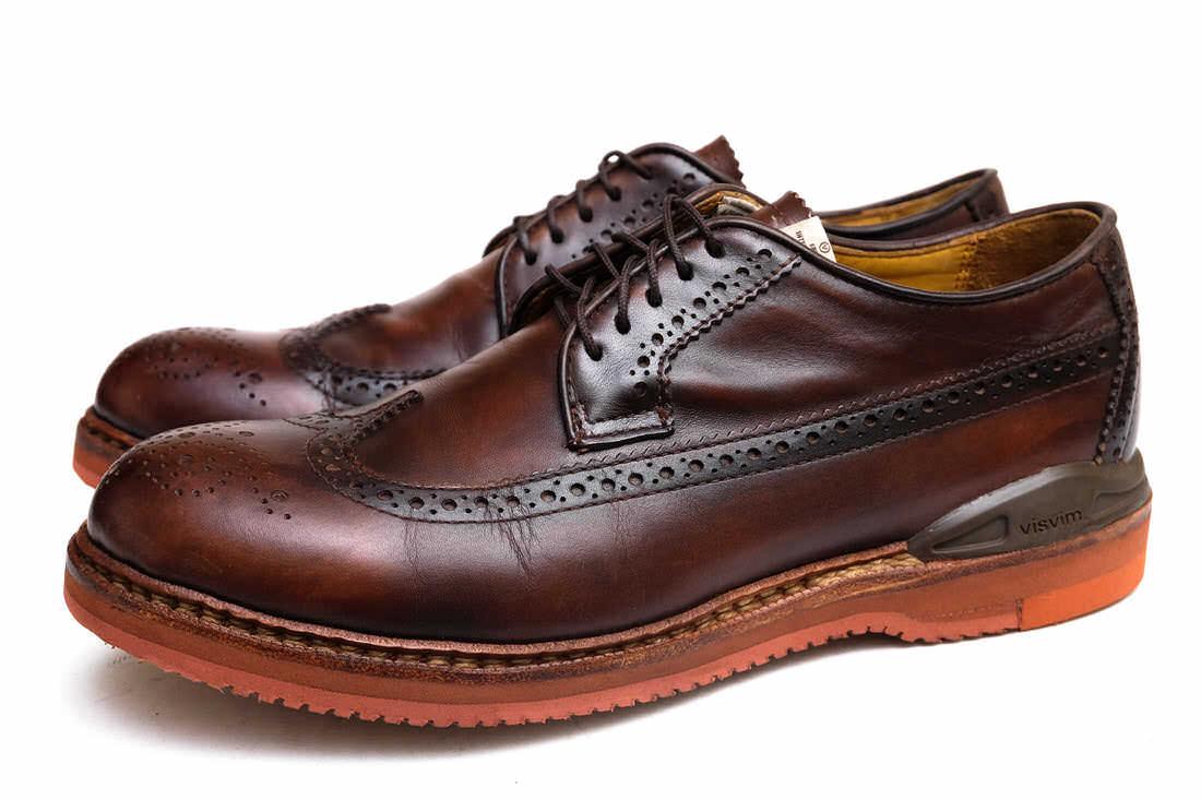 VISVIM ビズビム/shoe/靴 カジュアルシューズ PATRICIAN W.T-FOLK DK.BROWN 【中古】【VISVIM】