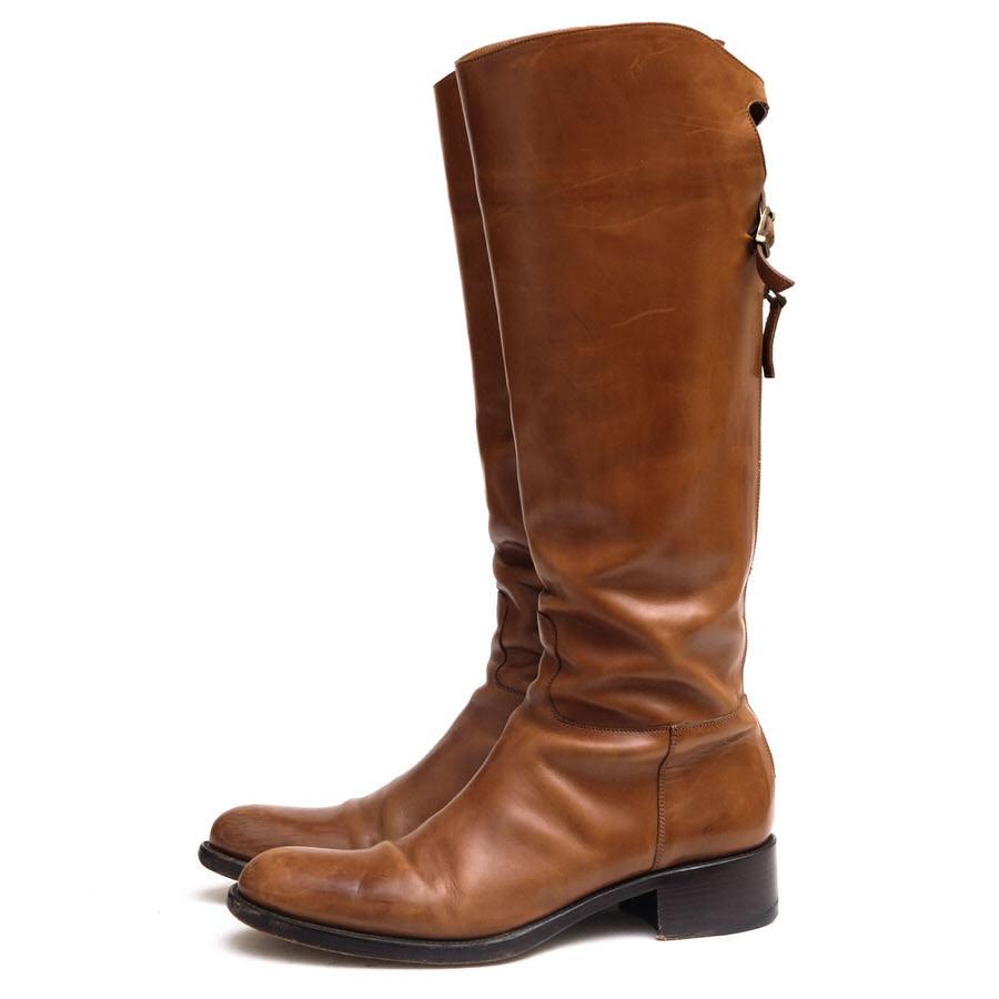 SARTORE サルトル/boots/shoe/靴 ロングブーツ ダブルバックベルト 乗馬ブーツ 【中古】【SARTORE】