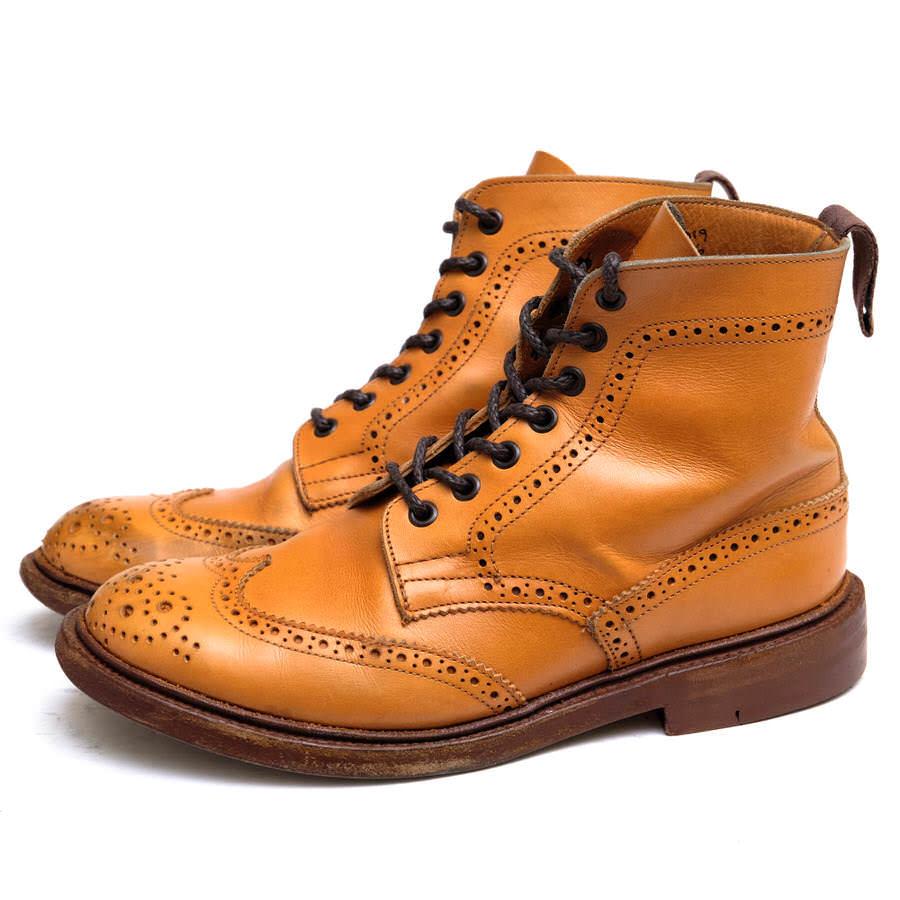 Tricker's トリッカーズ/boots/shoe/靴 ブーツ L5676 カントリーブーツ ダブルソール グッドイヤーウェルト製法 【中古】【Tricker's】