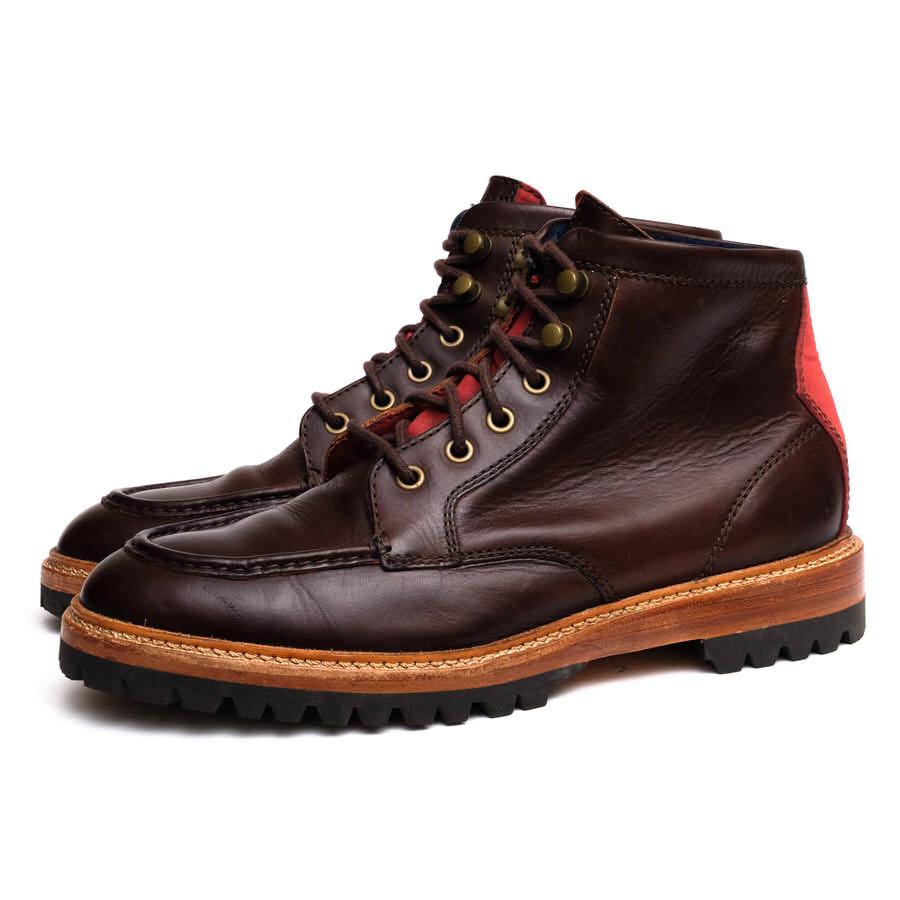 COLE HAAN コールハーン/ワークブーツ/boots/shoe/靴 ワークブーツ C13326 Judson Moc Toe ジャドソン ラグソール 【中古】【COLE HAAN】