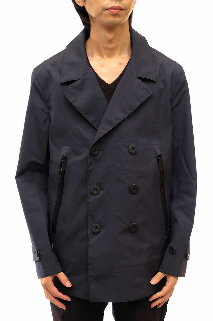 COACH コーチ/coat/JACKET/Pコート Pコート レザー使用 防水 【中古】【COACH】