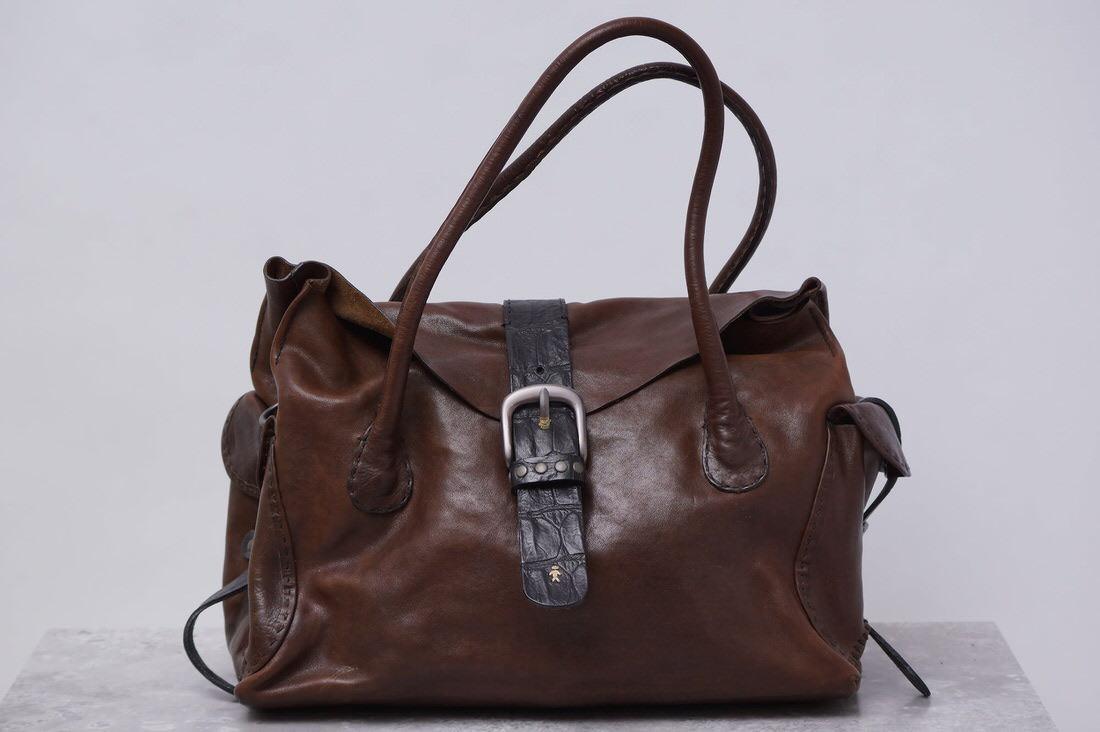 HENRY BEGUELIN エンリーベグリン/鞄 ハンドバッグ オミノ刺繍 【中古】【HENRY BEGUELIN】