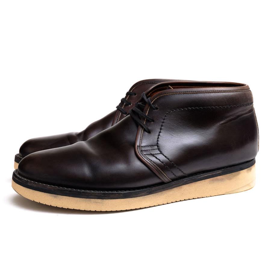 RE.ACT リアクト/チャッカブーツ/boots/shoe/靴 チャッカブーツ 北米産ヘビーウェイトステア 【中古】【RE.ACT】
