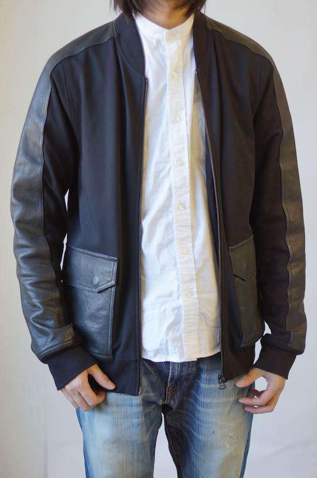 アレキサンダーワン/ALEXANDER WANG/Leather Combo Ponte Bomber Jacket ジャケット 【中古】
