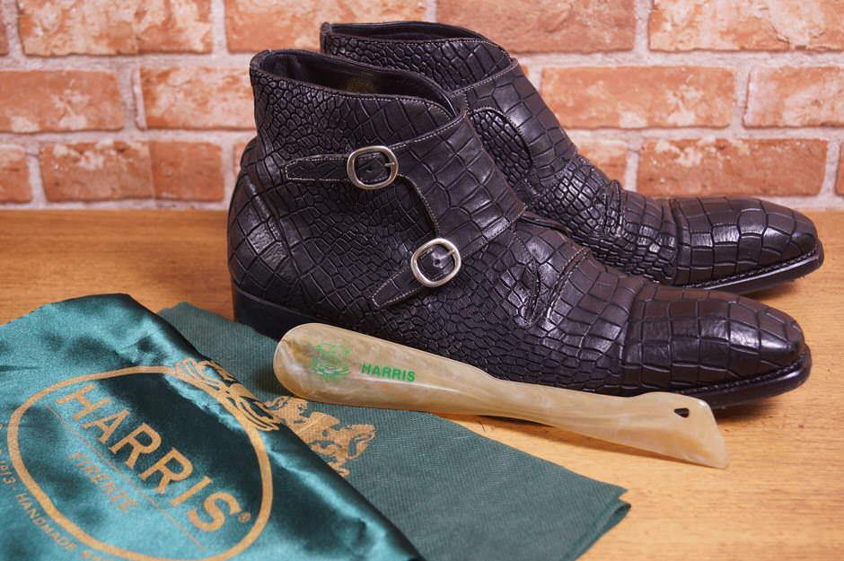 HARRIS ハリス/boots/shoe/靴 ブーツ 652 100th Anniversary Special Edition Croc Boots クロコダイル チャッカブーツ ダブルモンク 【中古】【HARRIS】