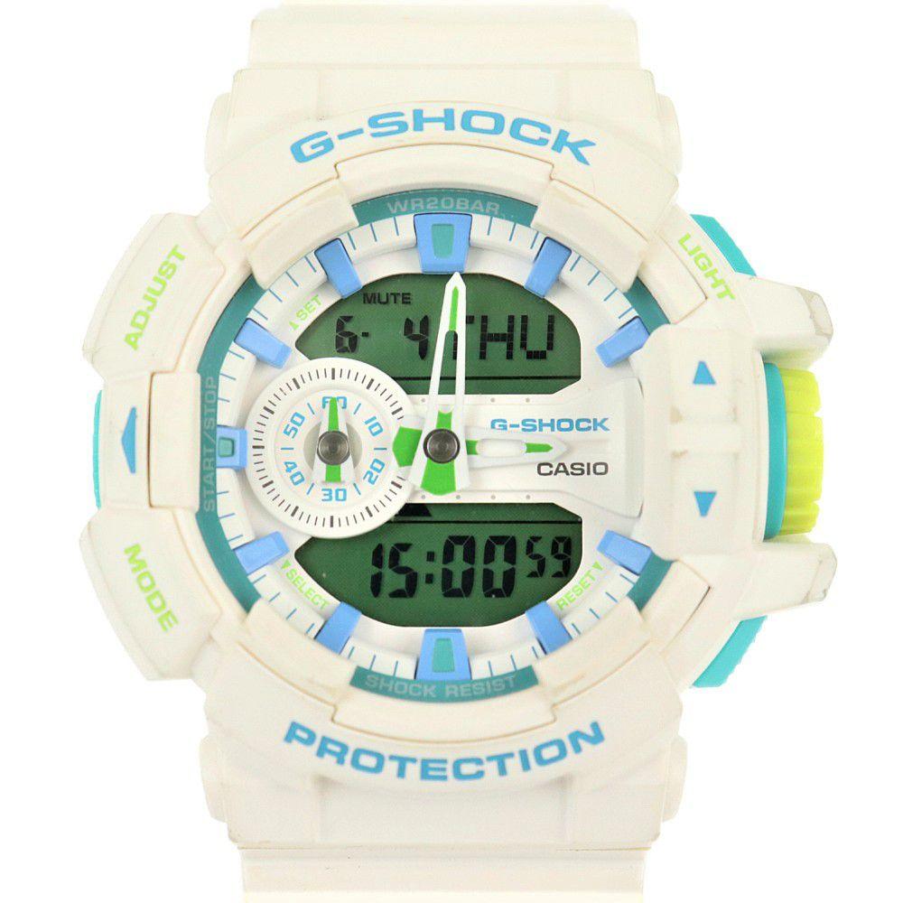 カシオ メンズ腕時計 GA-400WG 中古 クオーツ ホワイト ミントグリーン CASIO 【中古】 | ファッション ウォッチ 白 電池式 デジタル ブランド小物 ランクAB